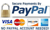 Purchase safely online with Paypal